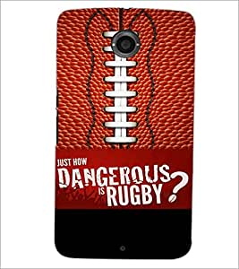 PrintDhaba Rugby D-5953 Back Case Cover for MOTOROLA GOOGLE NEXUS 6 (Multi-Coloured)