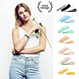 Aura Design Damen-Armband | Schwarz & Weiß | Live The Life You Love. | Silikonarmband | Sportarmband | Fitness-Armband | Armband für Damen | 4 Armbänder