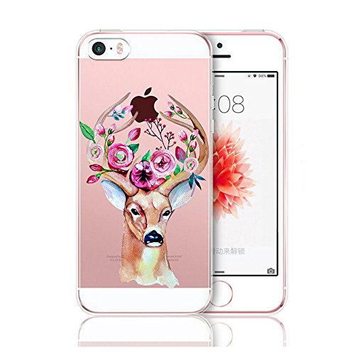 Custodia iPhone 5 Cover, iPhone 5s Clear Soft TPU Protective Case Back Cover with Cute Cartoon Pattern [Slim Fit] [Ultra Thin] for inches iPhone 5s (8) 4