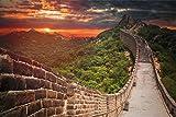 Chinesische Mauer Skyline XXL Wandbild Kunstdruck Foto