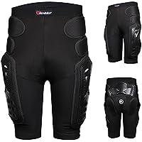 HEROBIKER Pantalones de Protección para Motocicleta, Motocross y esquí, Diseño de Hockey Knight, Hombre, Negro, Large