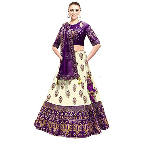 DREAMEXPORTER Designer Bollywood lehenga choli für Damen Mädchen Party Wear Brautschmuck Lang Traumexporter 1188 - Violett -