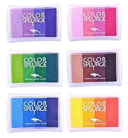 Colour Splurge Set of 6 Rainbow Ink
