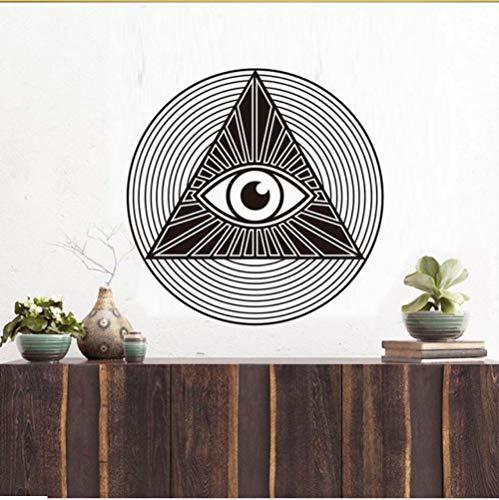 lbonb Eye of Providence Wandtattoos alle sehende Auge Pyramide Vinyl PVC Wand Aufkleber Kunst DIY Zimmer für Wohnzimmer Home Decor