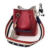 DEERWORD Femme Sacs bandoulière Sacs portés main Sacs menotte Sacs portés épaule Sacs cartables Rouge Vineux