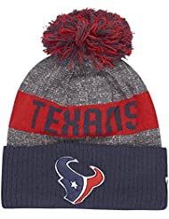 Youth Houston Texans New Era Navy/Red On Field Sport Cuffed Knit Hat