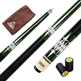 CUESOUL 57 Inch Pool Cue with 13mm Cue Tips with Cleaning Towel & Joint Protector (CSPC035)