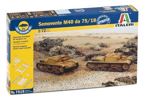 Italeri 7519 - semovente m40 da 75/18 - fast assembly (2 pcs) model kit  scala 1:72