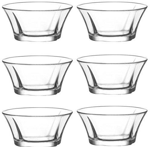 Material Christbaumkugeln.Lav 6 Christbaumkugeln 24 Rigida Truva Cuencos Cristal Carcasa Cuenco De Postre Vorspeise Cristal Vasos 190 Ml