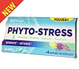 GOVital - PHYTO-STRESS 4 extraits de plantes - Aubépine Rhodiole Valériane Passiflore - Boite de 28 Comprimés