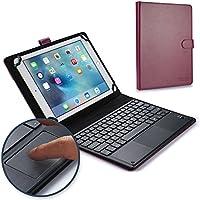 Funda-teclado Lenovo A10-70, Tab 2 A10-70, COOPER TOUCHPAD EXECUTIVE Funda 2 en 1, cuero teclado, ratón inalámbrico Bluetooth, soporte A7600 (Morado)
