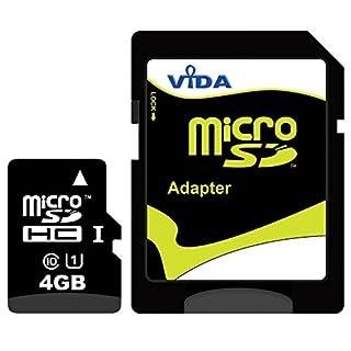 Neu Vida IT 4GB Micro SD SDHC Speicherkarte für Samsung - S5500 Eco - S5510 - S5530 - S5550 Shark 2 Handy - Tablet PC - Lebenslange Garantie