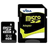 Vida IT Nouva 4GB Micro SDHC Scheda di Memoria per Il Cellulare Nokia - E90 - Lumia 520 - Lumia 620 - Lumia 720 Tablet PCS - Garanzia a Vita Limitata - con Adattatore SD