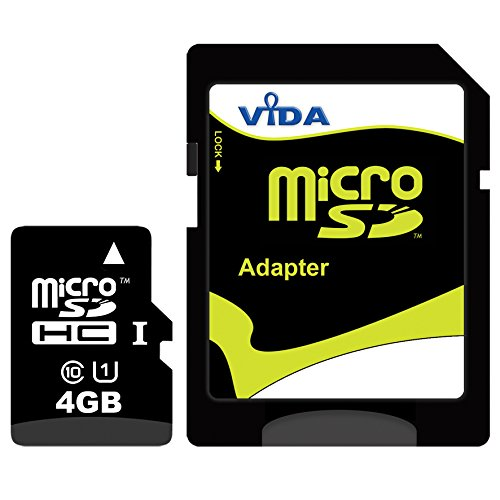 Neu Vida IT 4GB Micro SD SDHC Speicherkarte für BlackBerry - Curve 3G 9330 - Curve 8300 - Curve 8310 - Curve 8320 Handy - Tablet PC - Lebenslange Garantie -