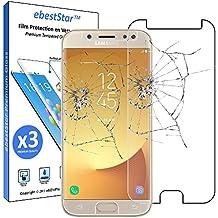 ebestStar - Samsung Galaxy J7 2017 SM-J730F [Dimensiones: 152.4 x 74.7 x 7.9 mm 5.5''] - Pack x3 Película protectora de pantalla de Vidrio Templado - Cristal protector [Importante Leer descripción]