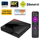 SUNNZO X88 MAX TV BOX Android 9.0 OS/Smart TV Box con RK3328 Quad-core Chipset 64 Bit,4GB RAM+64GB ROM, Dual-band Wifi 2.4Ghz/5Ghz,4K UHD ,Bluetooth 4.0 LAN 10/100M,H.265