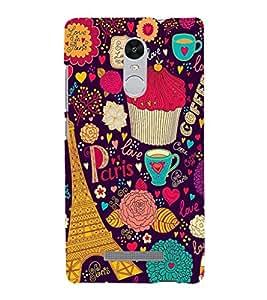 printtech Paris Tower Love Heart Memes Back Case Cover for Xiaomi Mi Redmi Note 4 (2017)