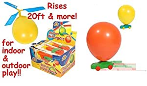 MunchieMoosKids Balloon Helicopter and Balloon Car Race