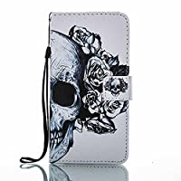 Huawei P9 Lite 2017 Wallet Case, ESSTORE-EU [Free USB Charging Cable] with Flip/Stand/Credit Card Holder/Magnetic Closure/TPU Bumper/360 Full Body Protection for Huawei P9 Lite 2017, Skeleton