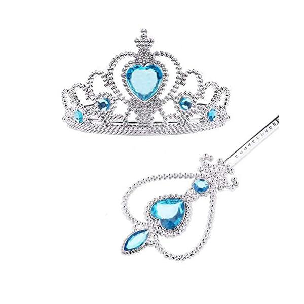 Vicloon Nuovi Costumi da Principessa set di 8 pezzi Dono da Tiara,Guanti,Bacchetta Magica, Anello, Orecchino,Collana da… 2 spesavip