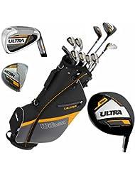 Wilson Ultra Herren Komplettes Golfschläger Set & Ständer Tasche Schläger mit Stahlschaft Golf Komplettset Eisen Hölzer Driver Bag Links-Hand