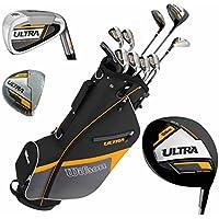 Wilson Ultra Hombre Completo de palo de golf Set & soporte funda con eje Acero palo de golf Juego completo metrosideros Driver Bag Izquierda de mano
