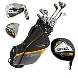 Wilson Ultra Set de golf complet pour homme & Support Étui Raquette avec tige en acier Golf complet Fer Bois Driver Hand Bag gauche
