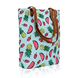 Kleio Stylish Tote Bags For Women / College Girls (Turquoise) (ECO2008KL-MELT)
