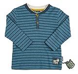 Sigikid Jungen Langarmshirt, Mini, Blau (Melange 779), 104
