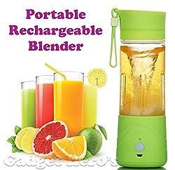 Param Sales Portable Personal Single Serve Blender with Travel Lid. Rechargeable USB Juicer / Drink Bottle. Instant Smoothie Maker Ice Crusher