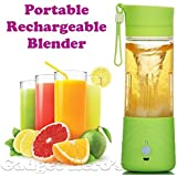 Param Sales Portable Personal Single Serve Blender With Travel Lid. Rechargeable USB Juicer / Drink Bottle. Instant Smoothie Maker Ice Crusher