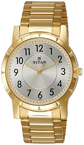 Titan Analog White Dial Men's Watch -NK1647YM01