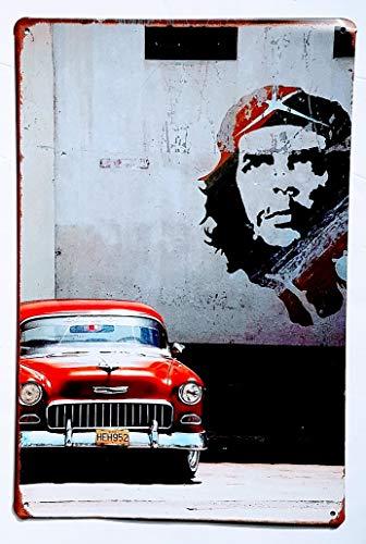 nschild Vintage Motive Che Guevara Cuba 30 x 20 cm zur Dekoration von Hauswänden, Tienda, Garage, Bar, Pub ()