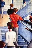 1art1 117068 Oskar Schlemmer - Bauhaustreppe, 1932 Selbstklebende Fototapete Poster-Tapete 180 x 120 cm