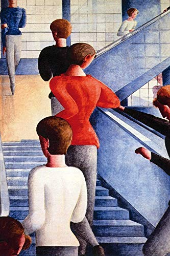 1art1 117079 Oskar Schlemmer - Bauhaustreppe, 1932 Poster Kunstdruck 180 x 120 cm