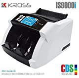 Kross - IS9000i Pro Banker Advanced Mix Denomination Value Counter (Mix Currency/Note / Money Value Counting Machine with Fake Note Detection for All New INR/Rupees Currency