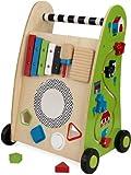 KidKraft 63246 Correpasillos de madera para niños Push Along con xilófono, laberinto y bloques giratorios incluidos