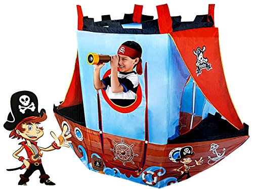 Webby Pirate Ship Indoor and Outdoor Play Tent House with Balls