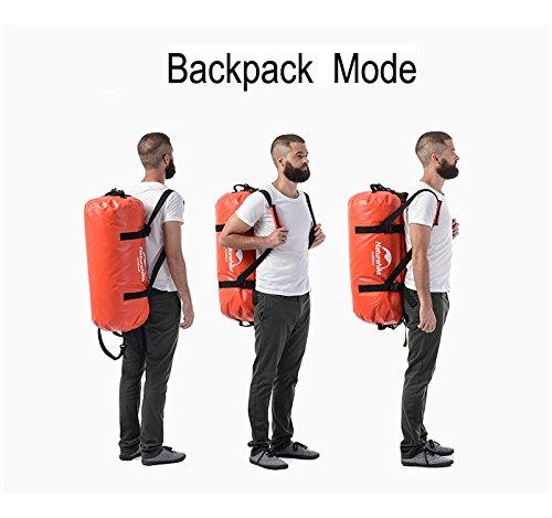 Naturehike Erwachsene Wasserdichte Reise und Sporttasche Sporttasche Classic Duffel Bag Gymsack Orange