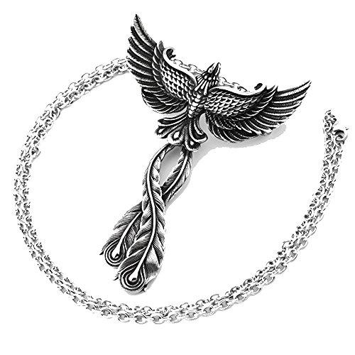 mcsays Edelstahl Jewelry Charm Phoenix Anhänger Link Kette Bird of Wonder Animal Unisex-Halskette Fashion Zubehör