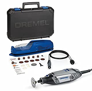 Dremel 3000 - Multiherramienta, 130 W, kit con eje flexible y 25 accesorios, velocidad variable 10.000 - 33.000 rpm para tallar, fresar, amolar, limpiar, pulir, cortar, lijar y grabar (B0156XHE90) | Amazon price tracker / tracking, Amazon price history charts, Amazon price watches, Amazon price drop alerts