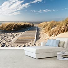 Fotomurales ,,Summer Beach 104' 366cm x 254cm océano mar playa duna Papel Pintado Fotomural