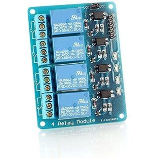LeaningTech 4-CH 5V 4 Kanäle Relais Modul-Brett für Arduino TTL Logik PIC DSP AVR ARM Relais Modul