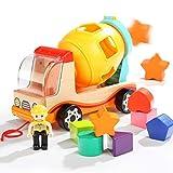TOP BRIGHT Betonmischer Spielzeug Betonmischfahrzeug für Jungen Mädchen Truck LKW zum Geburtstag und Weihnachten für Kinder