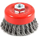 Tools Centre AS445 4 Inch Twisted Cup Brush for Removing Rust (Multicolor)