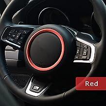 Aluminium Lenkrad Dekoration Ring Trim 3D Sticker Decals XFL XE f-pace F-X761car-styling Auto Zubehör