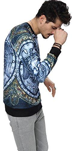 Pizoff Unisex Hip Hop Sweatshirts mit 3D Digital Print 3D Muster Y1759-50