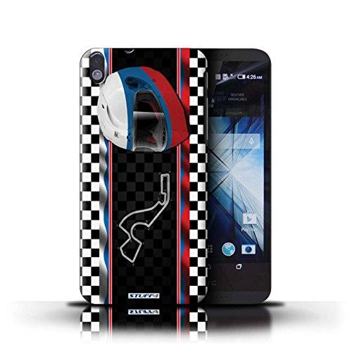 Kobalt® Imprimé Etui / Coque pour HTC Desire 816 / Malaisie conception / Série F1 Piste Drapeau Russie/Sochi