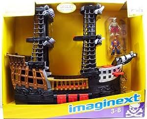 Fisher-Price - R8250 - Imaginext - Grand bateau de Pirates - avec beaucoup d'accessoires