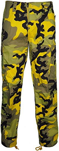Mens-Camouflage-Trouser-With-Cargo-Combat-Pockets-Army-Bottom